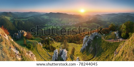 Spring in Slovakia mountain