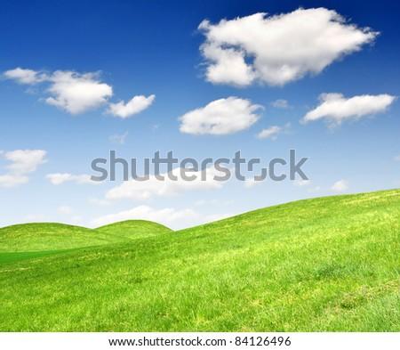Spring landscape - Shutterstock ID 84126496