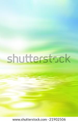 Spring landscape background