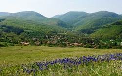 Spring landscape from the surroundings of Medven village in Central Bulgaria, Stara Planina mountains