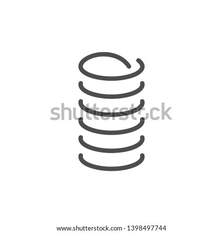 Spring line icon isolated on white