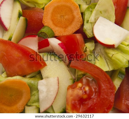 spring mixed vegetables healty salad