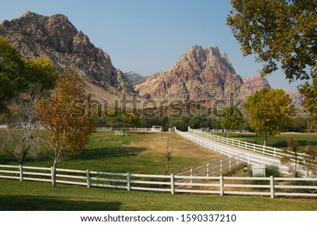 Spring Mountain Ranch State Park in autumn, Las Vegas, Nevada, USA