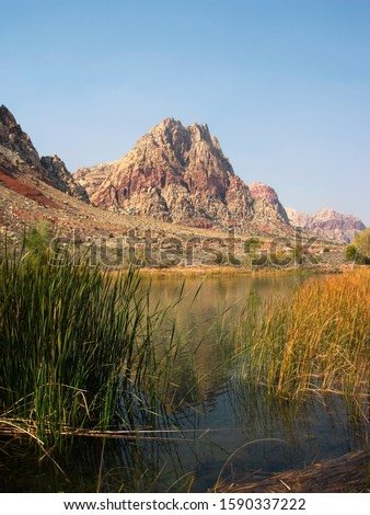 Spring Mountain Ranch State Park in autumn, Las Vegas, Nevada, USA