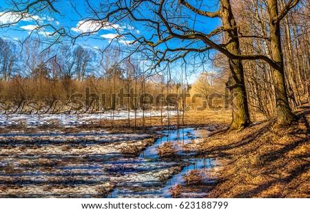 Spring nature landscape #623188799