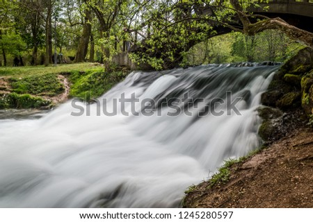 Spring of the Bosna river is a public park, featuring the spring of the River Bosna, at the foothills of the Mount Igman on the outskirts of Sarajevo, capital of Bosnia and Herzegovina #1245280597