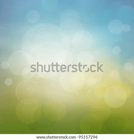 Spring or summer abstract season nature background with nature colors and bokeh lights.