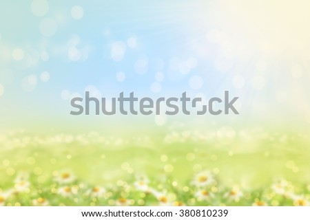 Spring or summer blurred nature background with grass.  #380810239