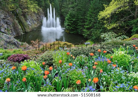 Spring ross fountain in victoria, british columbia, canada