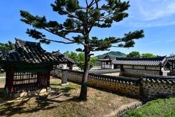 Spring scenery of Mun-ui Cultural Heritage Complex in Cheongju, Korea.