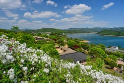 Spring scenery of the Mun-ui Cultural Heritage Complex in Cheongju-si, Chungcheongbuk-do, Korea.