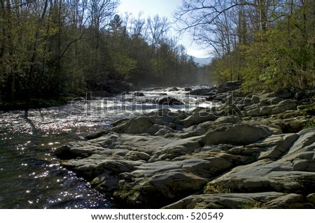 Spring Scenics, Little Pigeon River, Great Smoky Mtns National Park