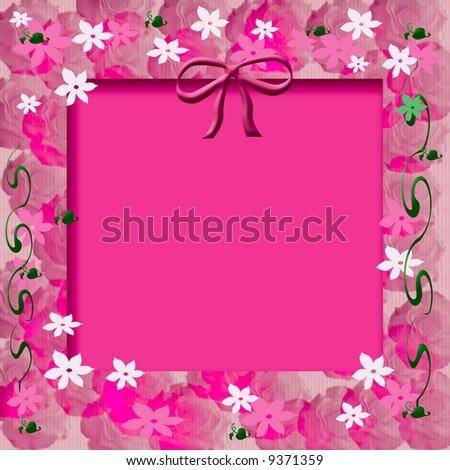 Scrapbooking Pink Flowers Spring Scrapbook Frame Flowers