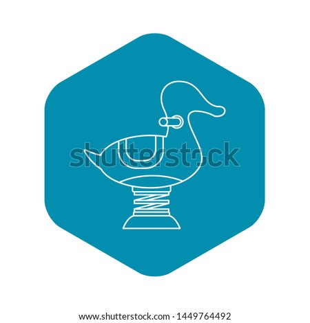 Spring see saw icon. Outline illustration of spring see saw icon for web
