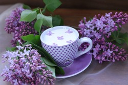 spring still lifes with lilac flowers