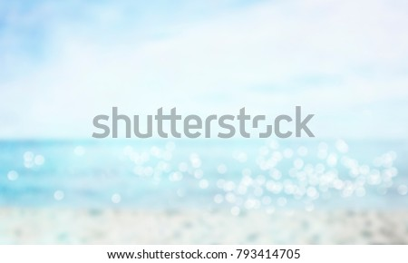 Spring, summer background. Blurred water with bokeh