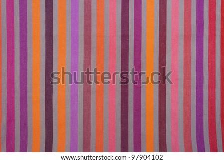 Spring, summer vibrant striped textile closeup.