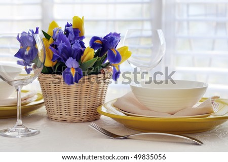 spring table setting for dinner