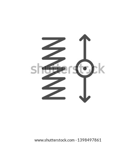 Spring tension line icon isolated on white