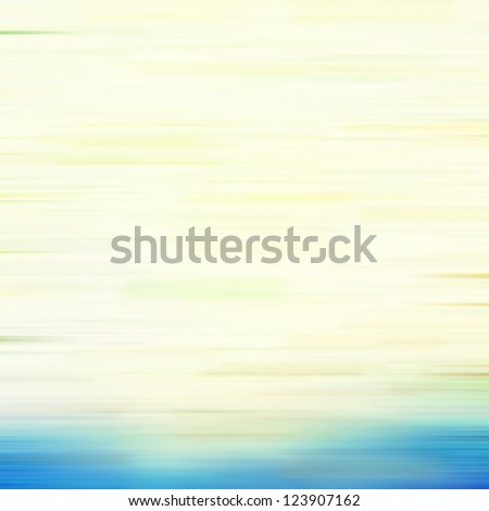 Spring-themed abstract textured background: blue, yellow, and green patterns on white backdrop. For art texture, grunge design, and vintage paper / border frame