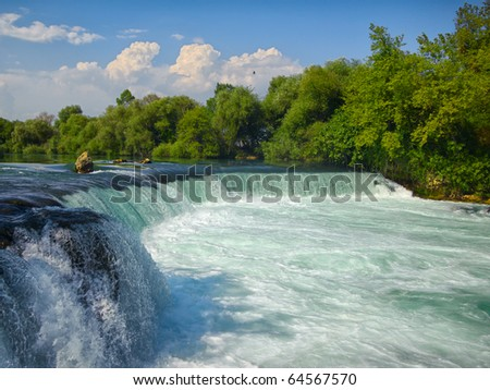 Spring waterfall Manavgat in Turkey