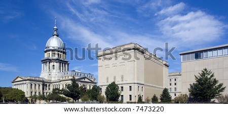Springfield, Illinois  - State Capitol Building.
