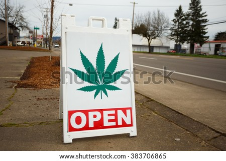 SPRINGFIELD, OR - FEBRUARY 16, 2016: Marijuana dispensaries like this one have popped up in large number due to a law change in Oregon legalizing pot for recreational purposes.