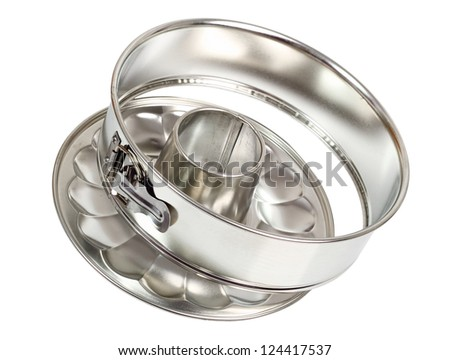 Springform Cake Tin. Isolated with clipping path.