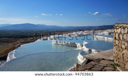 Springs of Pamukkale, Turkey