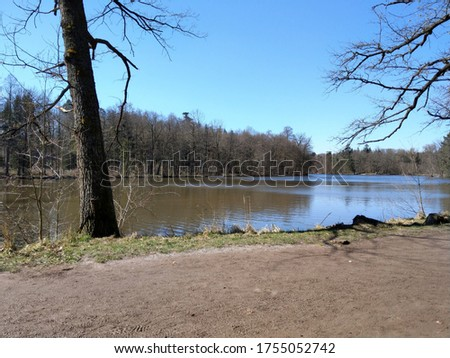 Springtime at beautiful Lake in Stuttgart, Germany