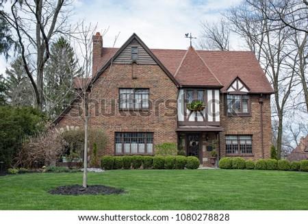 Springtime English Tudor Home