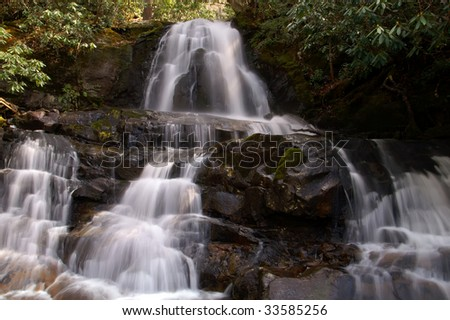 Springtime Laurel Falls, Great Smoky Mountains National Park Horizontal
