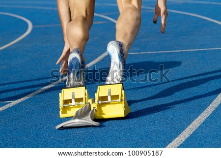 Sprinter starts the race