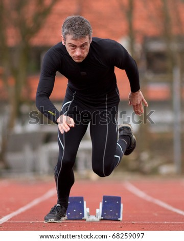 sprinting in track and field