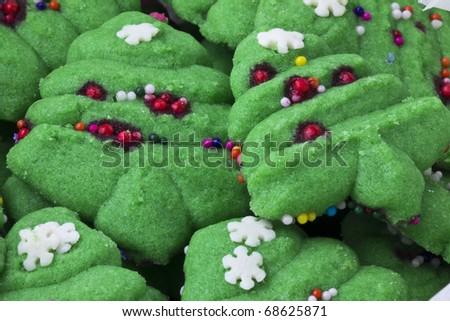 Spritz christmas tree cookies - stock photo
