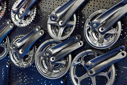 Sprocket bicycle pedal parts in the store