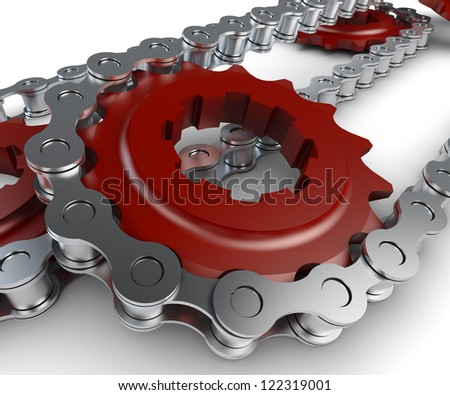Sprocket with chain