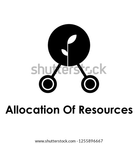 sprout, connection, allocation of resources icon. One of business icons for websites, web design, mobile app on white background