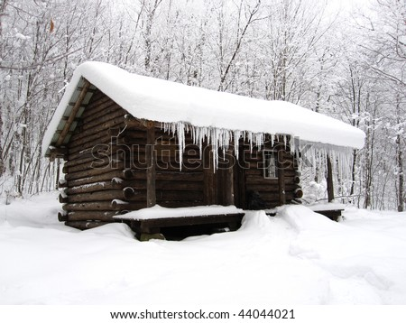 Spruce Peak Shelter - stock photo