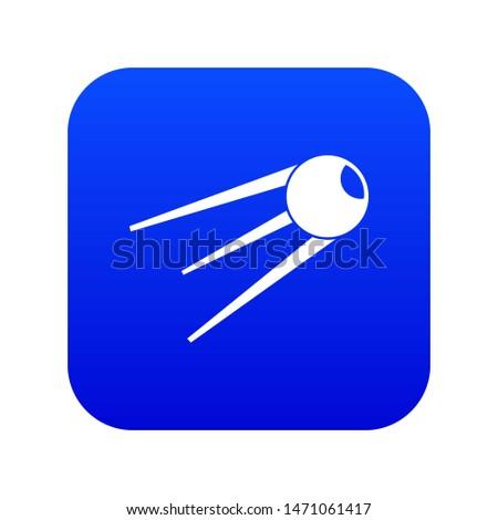 Sputnik icon digital blue for any design isolated on white illustration