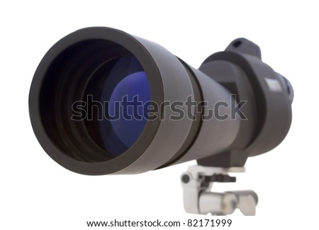 Spyglass isolated on white