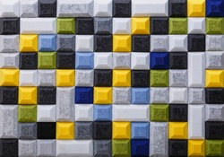 Square and rectangular acoustic polyester in white, gray, black, yellow, green and blue with cut corners