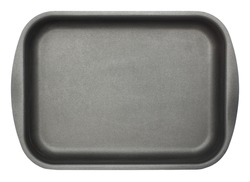 Square baking dish isolated on white background. Top view.