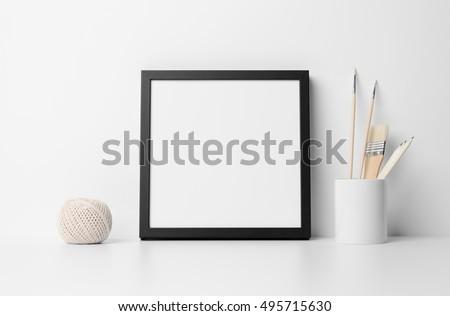 Square Black Frame Mock-Up