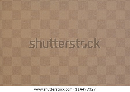 Square  brown grid texture of wallpaper