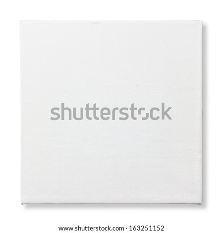 Square canvas frame isolated on white background (with clipping path) #163251152