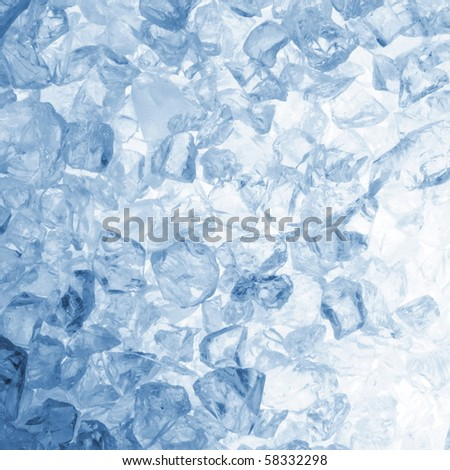 square cool ice background in blue with copyspace