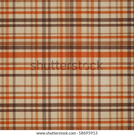 square fabric of tartan texture