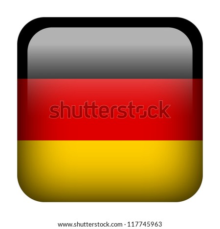 Square flag button series - Germany
