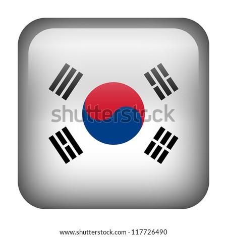 Square flag button series - South Korea